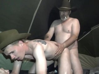 Cowboy Daddy Fucks Twink Ranch Hand
