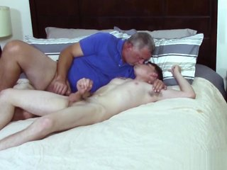 Straight Teen Seduced By Daddy And Likes It In Fake Porn Casting Session