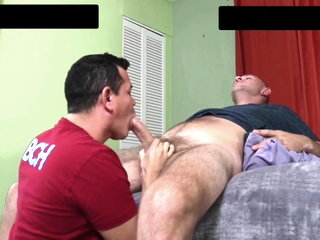 Huge white cock (10 inches) fucks gay