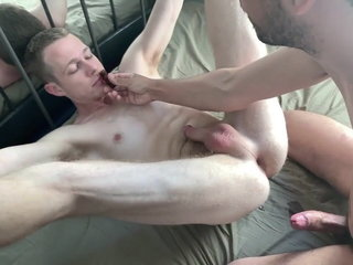 Cuffed to the Bed and Fucked by his Master Jonah Slakes
