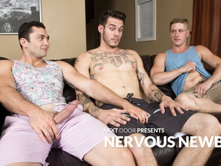 Johnny Riley & Chris Blades & TJ Lee in Nervous Newbies - NextDoorBuddies