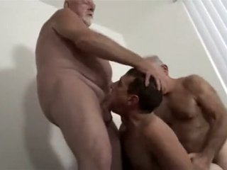 two daddies fuck their boy
