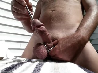 Sounding Cock Outdoors - Urethral Play - Part 1